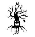halloween scary tree vector image vector image
