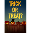 Halloween theme with jack-o-lantern vector image vector image