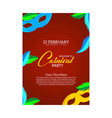 happy brazilian carnival day red carnival vector image vector image