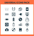 hardware icons set collection of radio set vector image vector image