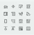 icon set home decoratingoverhaul and repair vector image