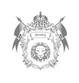 imperial coat arms - heraldic emblem or royal vector image vector image