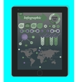 Infographics Concept on a black Tablet PC Template vector image vector image