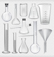 laboratory glassware instruments equipment for vector image vector image