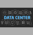 linear data center vector image