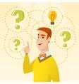 Man having business idea vector image vector image