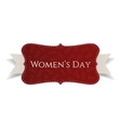 March 8 Womens Day red greeting Banner vector image