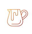 milk jug gradient linear icon