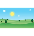 Nature landscape with hill and sun vector image vector image