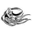 octopus sea drawing tattoo vector image vector image