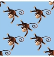 Pattern cheerful monkeys vector image vector image