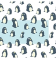 penguins transparent pattern vector image vector image