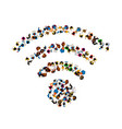 people wifi sign people wifi network vector image vector image