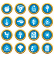 poison danger toxic icons set simple style vector image vector image
