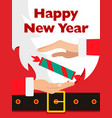 santa claus message banner red santa claus suit vector image vector image