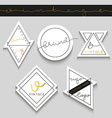 Set 5 label for business Label trademark vector image vector image