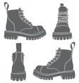 set of drawings with boots vector image vector image