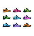 set sport shoes fitness sneakers shoes for vector image vector image