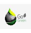 Shiny leaf icon vector image