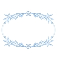 Silver brooch jewelry vector image vector image