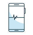 smartphone with cardiology app