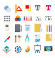 stationery and tools for writing on computer vector image vector image