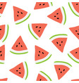 summer seamless pattern with watermelons vector image vector image