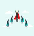 super business team-team super businessmen in vector image vector image