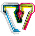 Technical typography vector image vector image