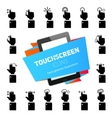 Touch Gestures Icons Black vector image vector image