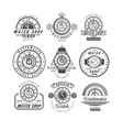 watch shop and repair service logo set retro vector image