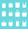 white blank canvas bags template mockup set vector image vector image