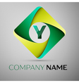 Y letter colorful logo in the rhombus template for vector image