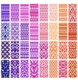 Set of 24 patterns vector image