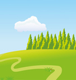 The sunny meadow vector image