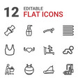 12 body icons vector image vector image