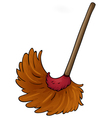 a broom vector image