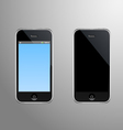 a Smart Phone with Editable Screen vector image