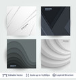 abstract gray shapes shadow overlap 3d dimension vector image vector image