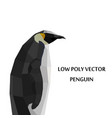 abstract polygonal penguin isolated on vector image vector image