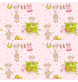 Baby Giraffe Background Seamless Pattern vector image vector image
