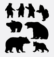 Bear wild animal silhouette vector image vector image