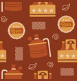 beer brewery seamless pattern background logo icon vector image
