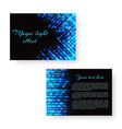 bright leaflet with neon light vector image vector image