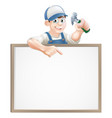carpenter sign vector image