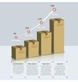 Carton box growth infographic vector image vector image