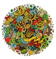Cartoon cute doodles New Year vector image vector image