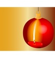 Christmas Candle Reflection vector image vector image