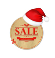 Christmas Vintage Banner With Santa Claus Cap vector image vector image