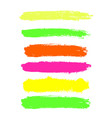 color highlighter brush lines hand drawing vector image vector image